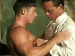 Muscled Gays Stripping