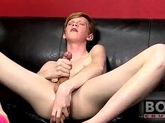 Teen twink redhead fucks big toy into his exasperation