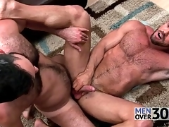 Great anal sex with two muted guys