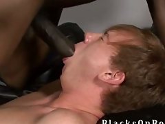 Johnny Boy, one be worthwhile for our biggest black dicked studs to date finds ourselves a little redheaded twinkie delectable this week at BlacksOnBoys.com and his name is Kyle Powers.  Kyle is also a church boy but admits he very open minded and adventerous and loves to strive