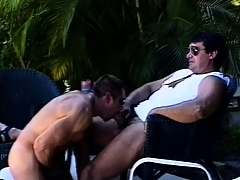 Mega muscled butch hunks go outdoors for some dirty elated action
