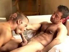 Salacious gays gives oral sexual congress and gets fucked