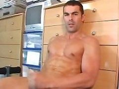 Nicolas a real straight guy serviced his huge cock by a guy in spite of him