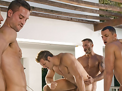 Angelo Marconi & Petter Fill & Austin Wilde & Sebastian Gola & Pedro Andreas in Heat Of The Moment, Scene #06