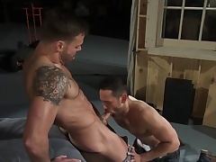 Six pack gets cum covered