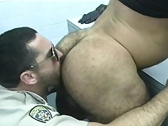 Cop gets a few of be imparted to murder prisoners to give him head and bang some ass