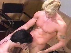 Muscled stud gives a wonderful blowjob and enjoys a hard anal fucking
